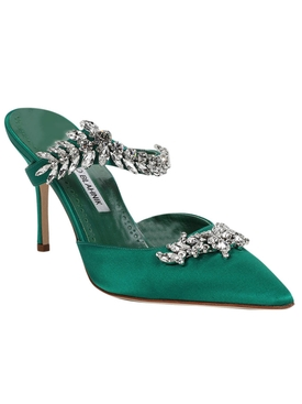 Satin Lurum Sandal GREEN