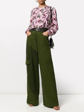 Silk Rose Print Blouse