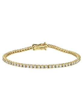 18K gold Mini tennis diamond bracelet