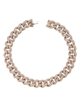 Medium pavé diamond link bracelet