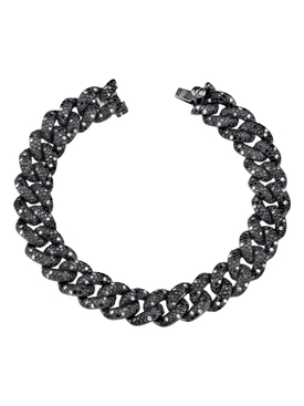 Diamond essential link bracelet Blackened White Gold