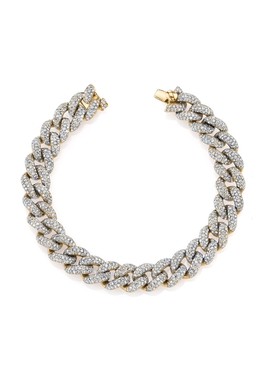 Diamond essential link bracelet Rose Gold