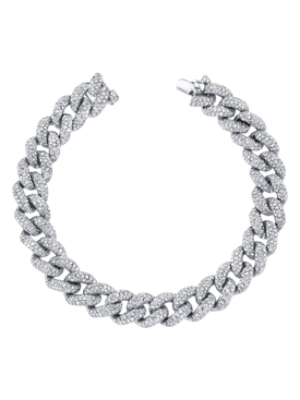 Essential pavé diamond link bracelet
