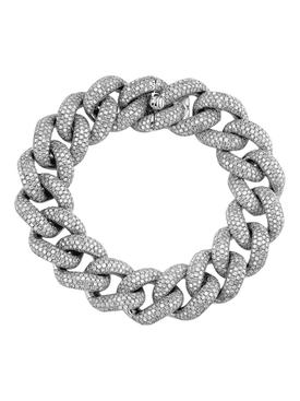 Jumbo link diamond bracelet