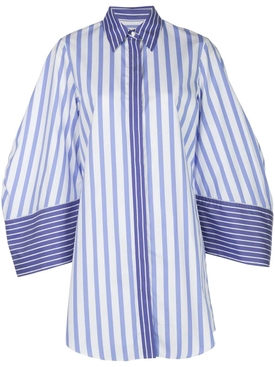 Blue Striped Over-sized Shirt Dress