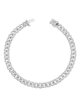Mini pavé diamond link bracelet