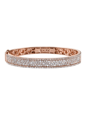 Nameplate pavé diamond bangle