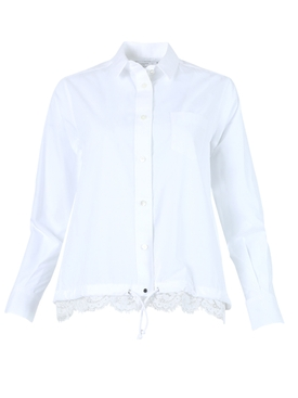 White Poplin Lace Shirt