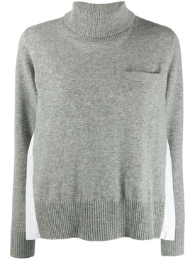 Light grey wool knit pullover