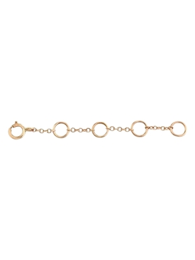 18k jump ring extension chain ROSE GOLD