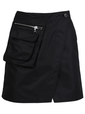 Survival cycling mini skirt, black
