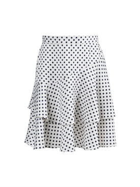 Ruffled polka-dot skirt