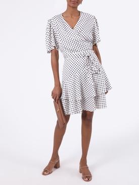 Ruffled polka-dot skirt