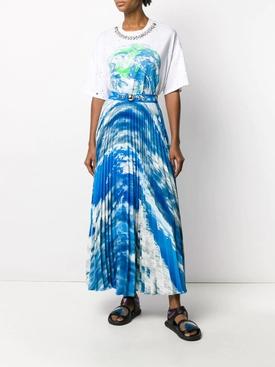 Sky Pleated Maxi Skirt