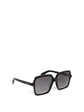 tinted square sunglasses shiny black