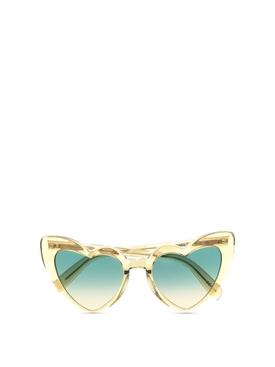Loulou heart shape sunglasses yellow