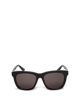 Classic Glossy Square Sunglasses Black