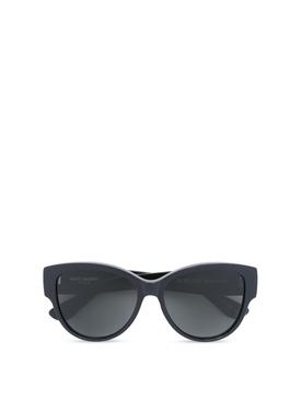 Oval frame Sunglasses Black