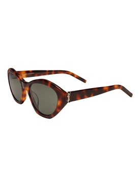 Brown Hexagon Cat-Eye Sunglasses
