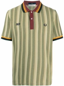 X Nicholas Daley Stripe Polo Shirt Khaki Green