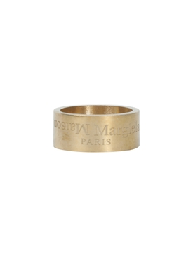 Engraved logo ring GOLD