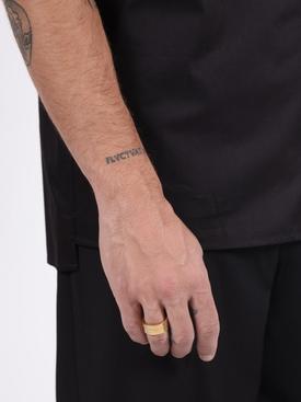 Engraved logo ring GOLD
