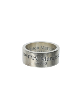 Engraved logo ring SILVER