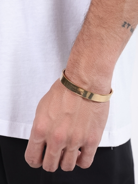 Logo engraved bracelet GOLD