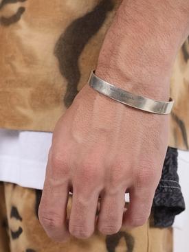 Logo engraved bracelet SILVER