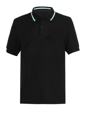 Black stripe polo shirt