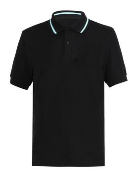 Black stripe polo shirt