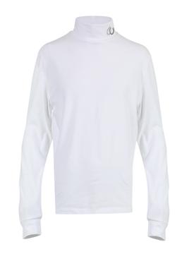 LAUREL WREATH ROLL NECK TOP WHITE