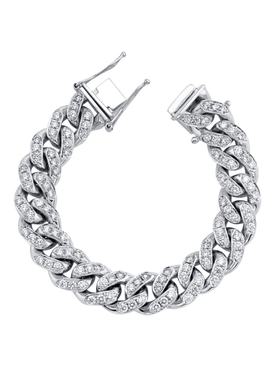 diamond mega link bracelet