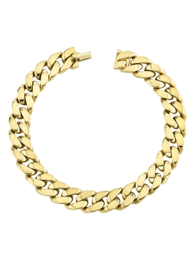 yellow gold solid link bracelet