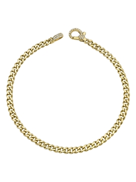 yellow gold diamond solid link bracelet