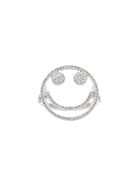 Smiley Face Diamond Ring