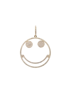 Smiley Face Diamond Pendant