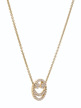 18K Gold & Diamond smiley necklace