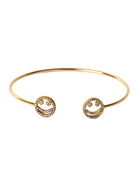 18K DOUBLE SMILE BANGLE BRACELET
