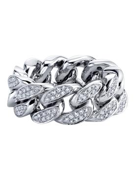 diamond flat link ring