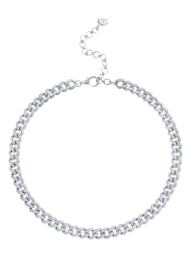 Medium Link Pave Necklace