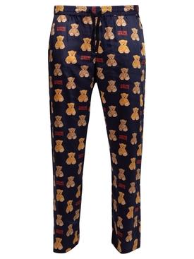 Snap Pants Bear Navy Blue