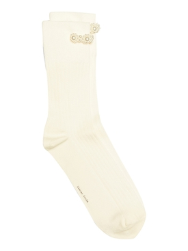 Faux pearl ankle socks CREAM/PEARL