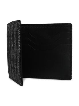 Reflective Jacquard Le Bifold Wallet, Black