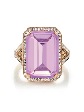 Amethyst Portrait Gemstone Ring