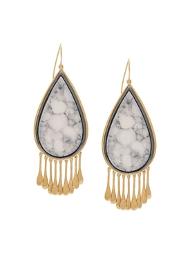 Drop Marble Earrings