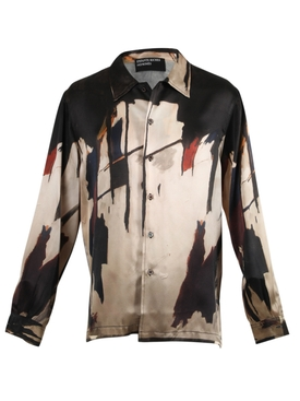 Enfants Riches Deprimes - I Made This Painting On Acid Silk Shirt - Men