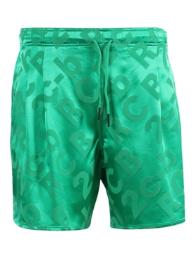 Drawstring sport shorts GREEN