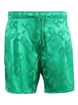 Drawstring sport shorts GREEN