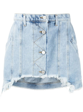 short frayed denim Mini skirt